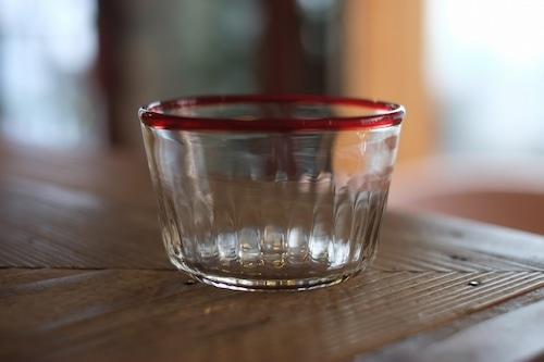 【カンナカガラス工房◆村松学】◆デザートカップ◆口巻*赤◆再入荷!◆7/10◆