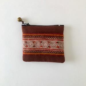 モン族の刺繍のコインケース④ Hmong Embroidery Coin Purse