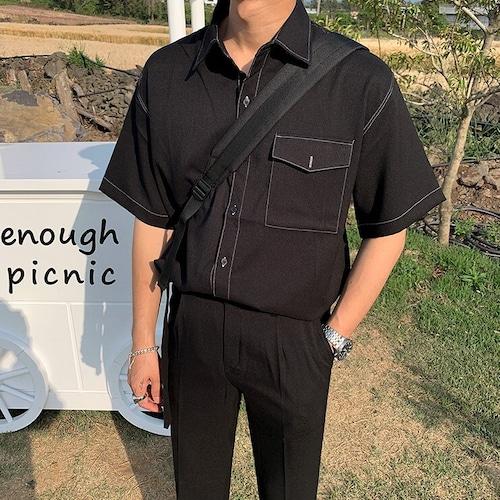 ワンポケットステッチシャツ BL5724