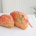 コスメポーチ オレンジ Mサイズ