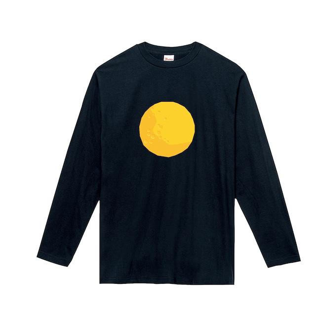 宇宙Tシャツ(長袖)-満月(ネイビー)