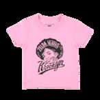 "K'rooklyn × 上岡 拓也 - Kids T-Shirts(100cm〜120cm)""Zelda Harris"" - Light Pink"