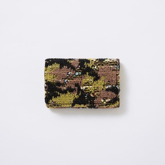 【COOHEM】knit tweed card case camouflage tweed