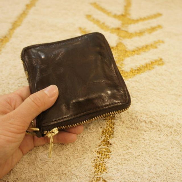 TOPANGA FASHION  ZIP2つ折り財布 チョコ