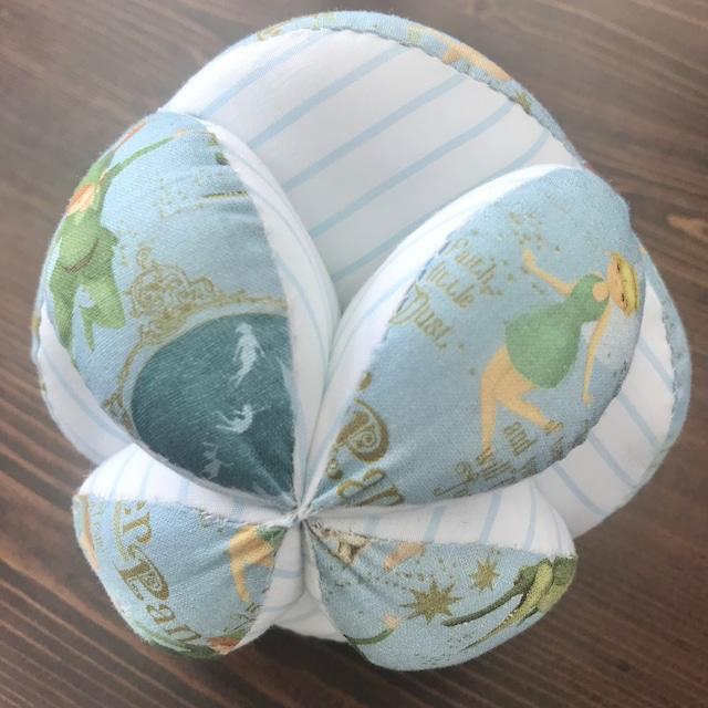 キッキングボール ピーターパン柄(水色系)×ボーダー柄(水色)