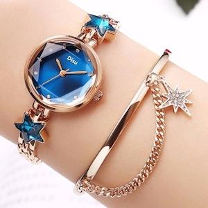 上品 デイリー デザイン感 レディース ブレスレット 腕時計<ins-2165>