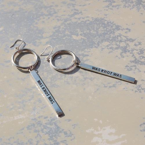 リング&プレートピアス シルバーピアス レディース WKW RING&PLATE PIERCED EARRINGS silver925 FA-117