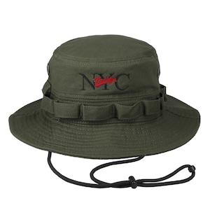 NYC Logo Bucket Hat KHAKI