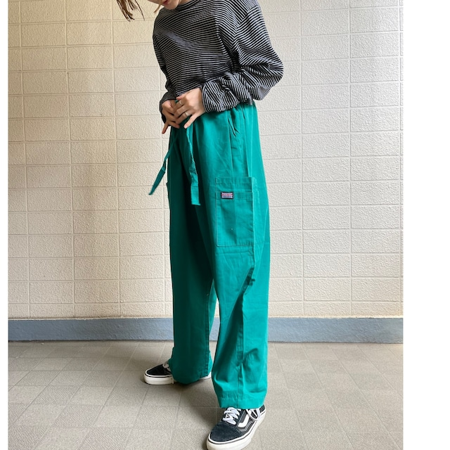 Staked pocket Green easy pants