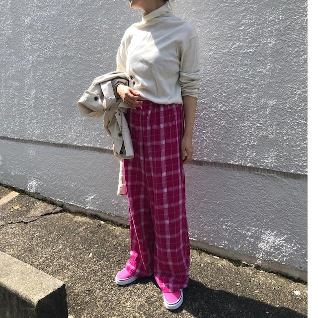 US pink check pajama pants