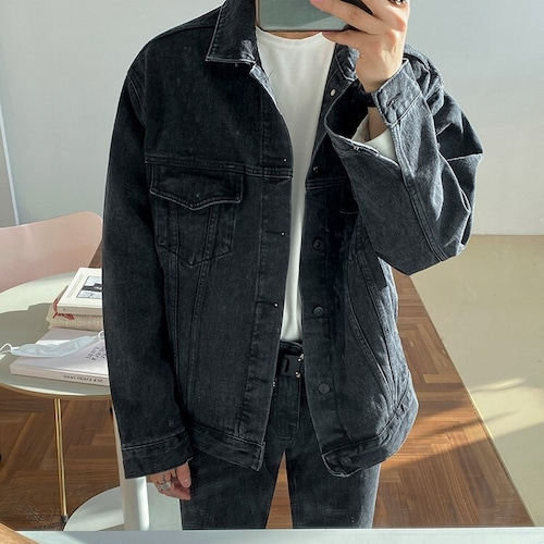 ブラックデニムジャケット #BL7794