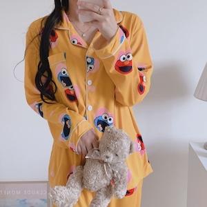 moster home wear 3colors / エルモ クッキーモンスター パジャマ ルームウェア 韓国