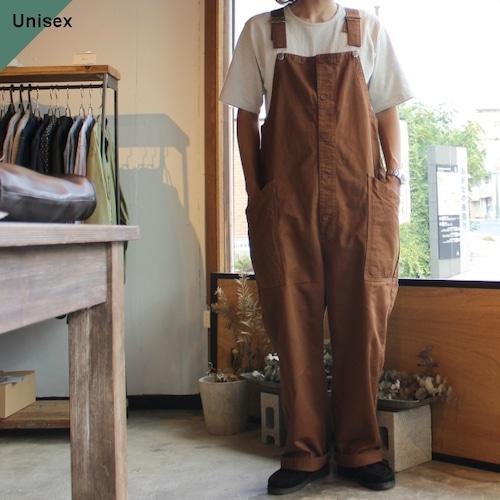 【再入荷!】HARVESTY ハーベスティ CHINO CLOTH OVERALLS チノクロスオーバーオール A12008 ブラウン