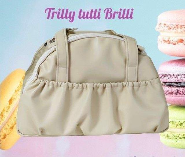 【予約】Trilly tutti Brilli  CICELY BEIGE TRAVEL BAG