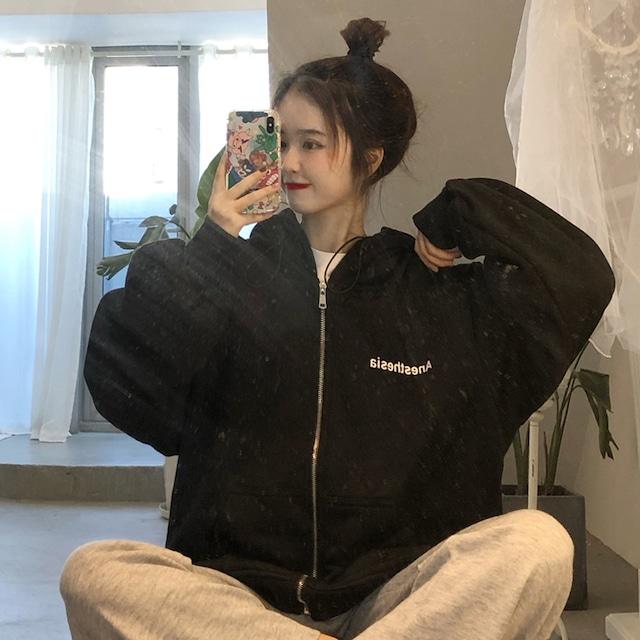 【アウター】激売れ中韓国系フード付きファスナージッパージャケット38615077