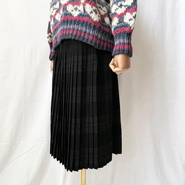 Highland Queen ハイランドクイーン 60年代 CANADA製 ヴィンテージ  チェック柄 ウール プリーツスカート