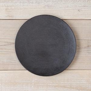 香川漆器 讃岐石地塗丸皿(中) 中田漆木