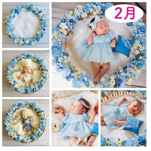 パーフェクトなブルー女の子コーデセット<2月ご出産予定日のお客様枠>