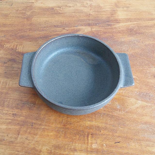 松尾直樹|鉄釉耐熱皿 中