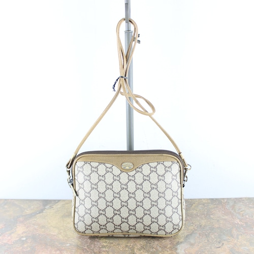 .OLD GUCCI PLUS GG PATTERNED SHOULDER BAG MADE IN ITALY/オールドグッチプラスGG柄ショルダーバッグ2000000052823