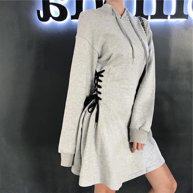 【ワンピース】ファッションフード付きAラインワンピース43008024