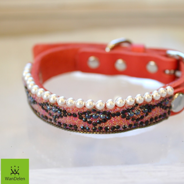 """ WanDelen"" Dog Necklace (diamond red)"