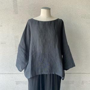 【evam eva】linen pullover/E211T121
