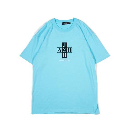 【ラスト1】Jazzy Sport x Diaspora skateboards Cross Logo Tシャツ (Acid Blue)