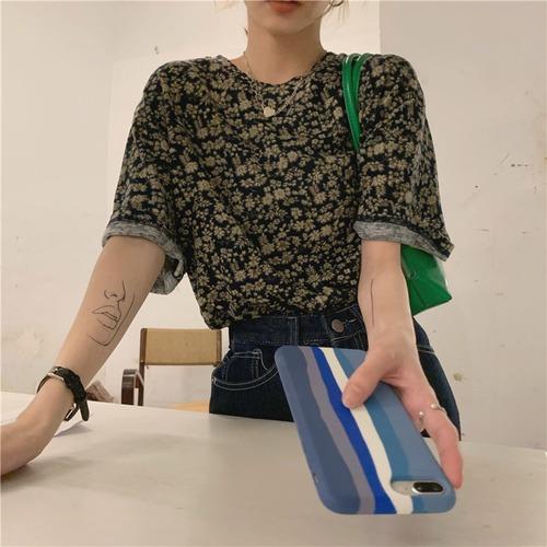 フラワープリントTシャツ RD8469
