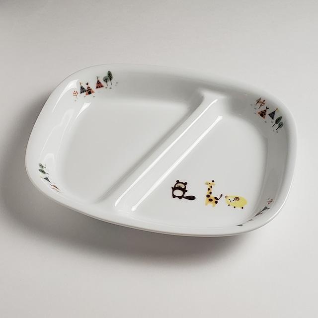 親子で使える仕切り皿 ホリデー 強化磁器【1916-1350】