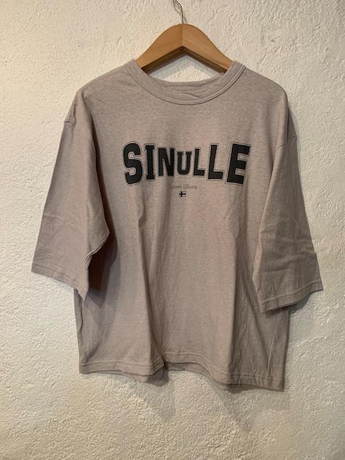 Chloro sister/toujours/プリント5分袖Tシャツ グレージュ