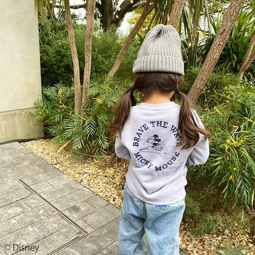 ★Kids★ BRAVE THE WAVE <MICKEY MOUSE> sweat - Mix gray