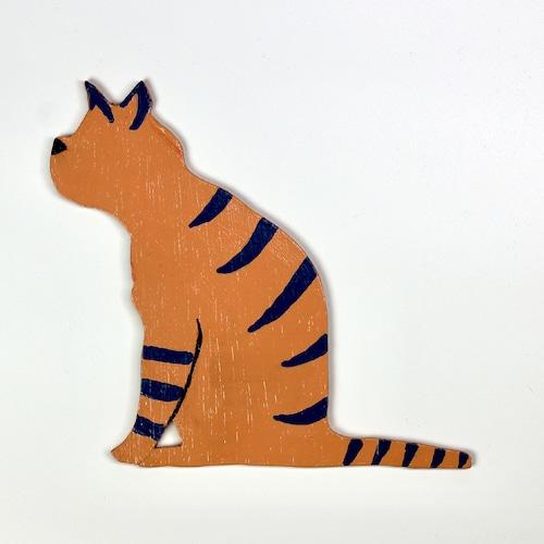 猫ちゃんウッド壁掛け(トラ)