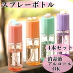姫系雑貨 可愛いミニスプレーボトル アルコールOK 消毒液OK 4本入り 通販商