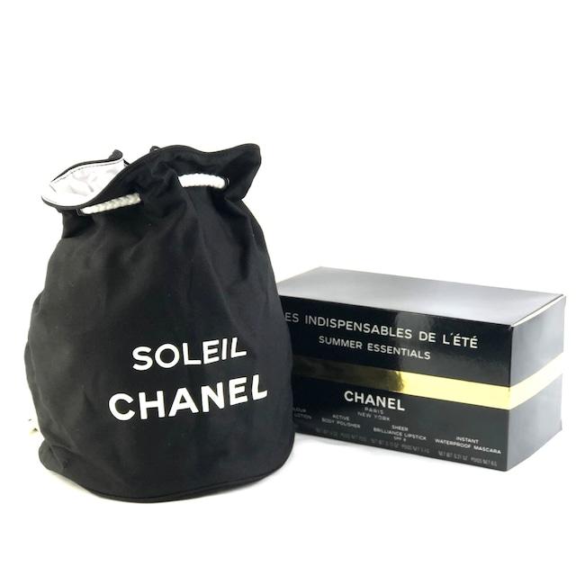 CHANEL シャネル 巾着 リュック プールバッグ ブラック vintage ヴィンテージ オールド gzs4be
