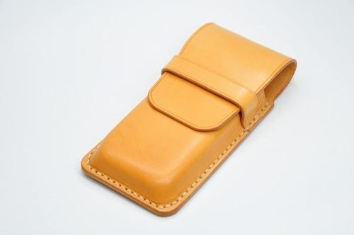 ヌメ革ペンケース4本用(さし込みカバータイプ)