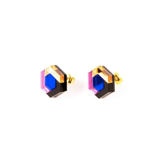 "MYSTIC FORMS ""Geometric Perspex Statement Mini Earrings""  FORM043 ピアス"