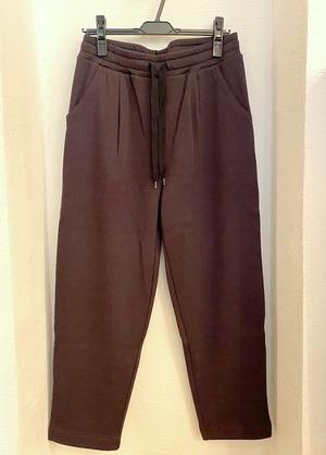 Bomber Heat BAKUDAN Tweed Tuck Easy Pants Dark Brown