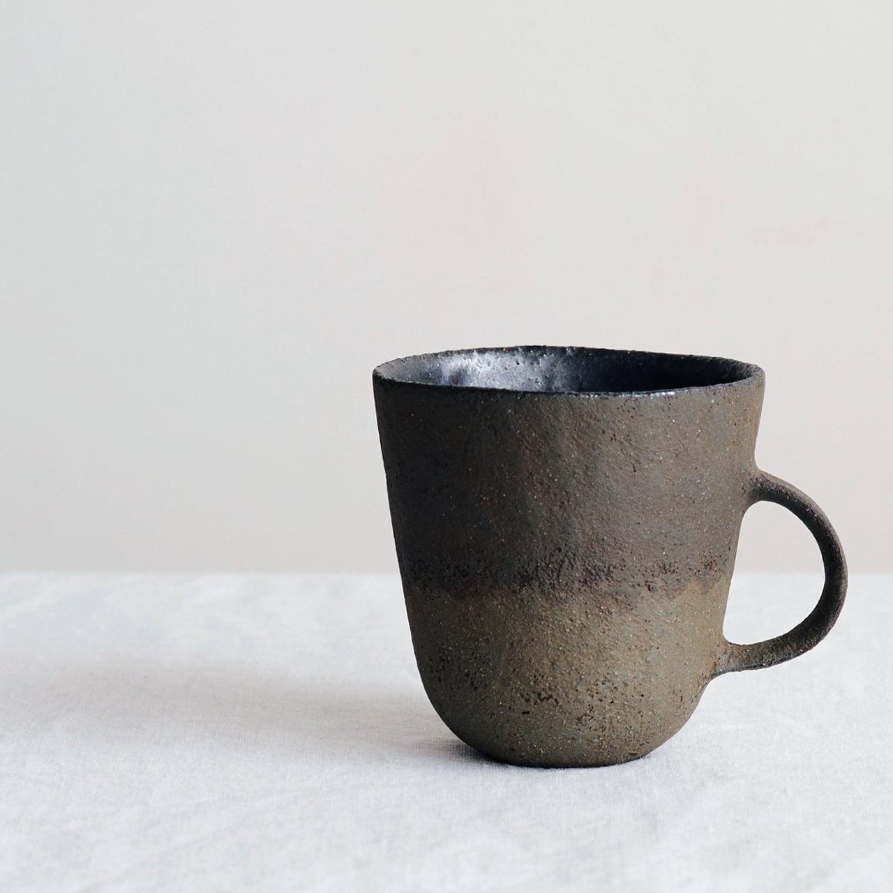 高田かえ グレーマグカップ no.26