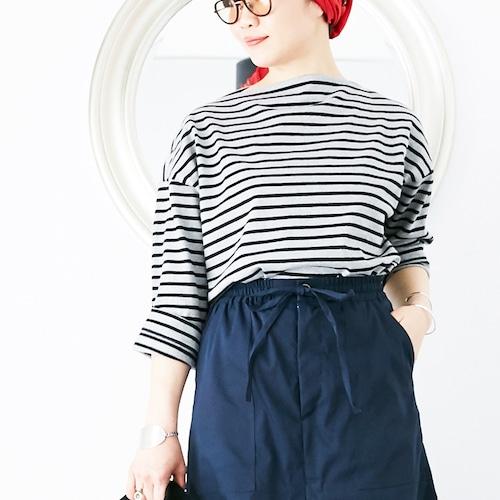 [OUTLET] L'Ancre (アンカー)バスクボーダードレスTシャツ