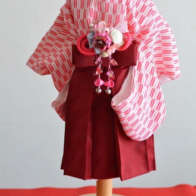 女の子用袴  赤紫