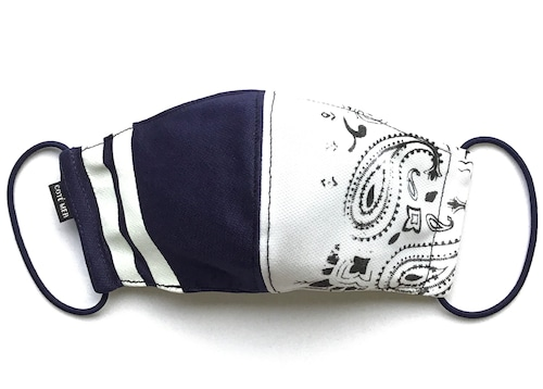 【デザイナーズマスク 吸水速乾COOLMAX使用 日本製】PAISLEY × SPORTS MIX MASK CTMR 0918046