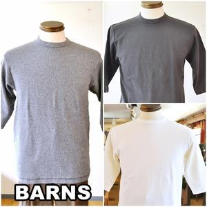 BARNS(バーンズ)スパンフライス 6.5分袖 Tシャツ br8315 ストレッチ カットソー
