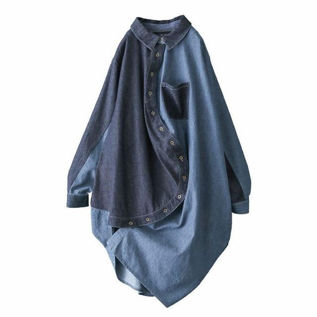 カラーデニムデザインシャツ   1-402