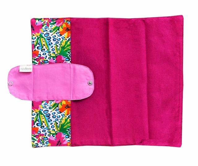 クラシックスタイル(防水あり) 肌面:オーガニック染料使用フランネル/Foldable Pad - Vibrant