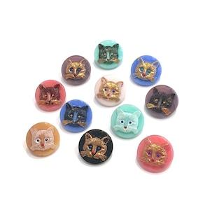 〈入荷待ち〉チェコガラスボタン-Cat
