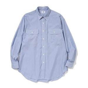 "Just Right ""Basic Stripe Shirt"" Blue"