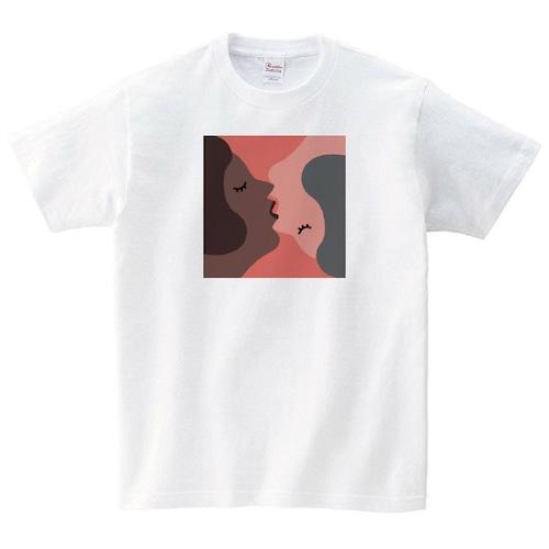 デザイン Tシャツ メンズ レディース 半袖 ゆったり おしゃれ トップス 白 30代 40代 ペアルック プレゼント 大きいサイズ 綿100% 160 S M L XL