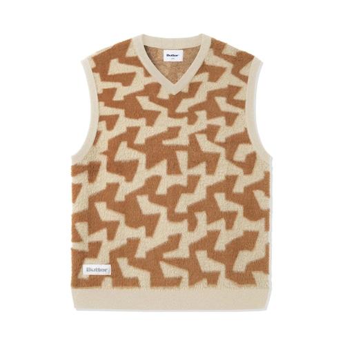 BUTTER GOODS 【Mohair Knit Vest, Brown / Tan】