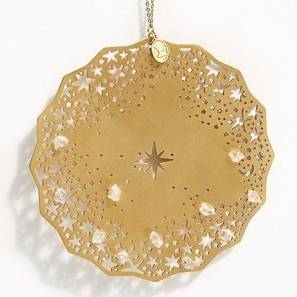 Ariana Ost Celestial Herkimer Diamond Ornament オーナメント ハーキマーダイヤモンド/ゴールド